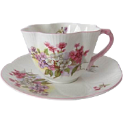 Shelley Floral Dainty Shaped Cup and Saucer