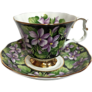 Royal Albert Provincial Flowers Purple Violet Tea Cup & Saucer