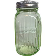 Anchor Hocking Green Depression Glass Range Shaker