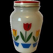 Vintage 1950's Fire King Tulip's Range Salt Shaker
