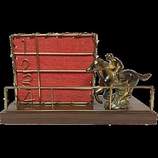 Vintage Horse Racing TV Lamp