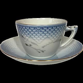 Bing & Grondahl Seagull Tea Cup and Saucer #475