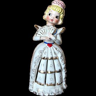 Vintage Japan Napkin Girl Sweetheart Figurine