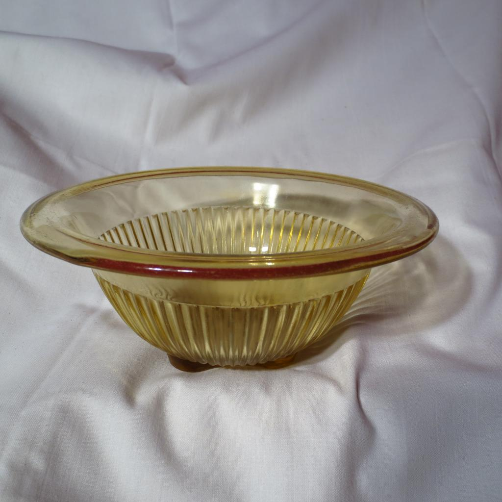Depression Era Federal Glass Amber Mixing Bowl