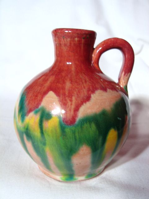 Vintage North Carolina CC COLE Sanford Art Pottery Jug