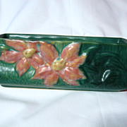Vintage Roseville Green Clematis Window Box #391-8