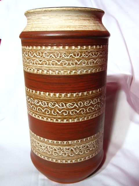 Dumler and Breiden West Germany Sgraffito Vase