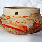 Nemadji Pottery Squat Hanging Basket