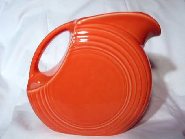 Fiesta Contemporary Persimmon Large Disk Pitcher