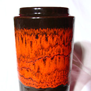 West German Scheurich Fat Lava Vase~203-18