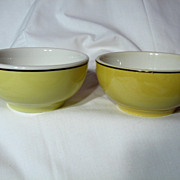 Vintage Pair CNR China Soup Bowls