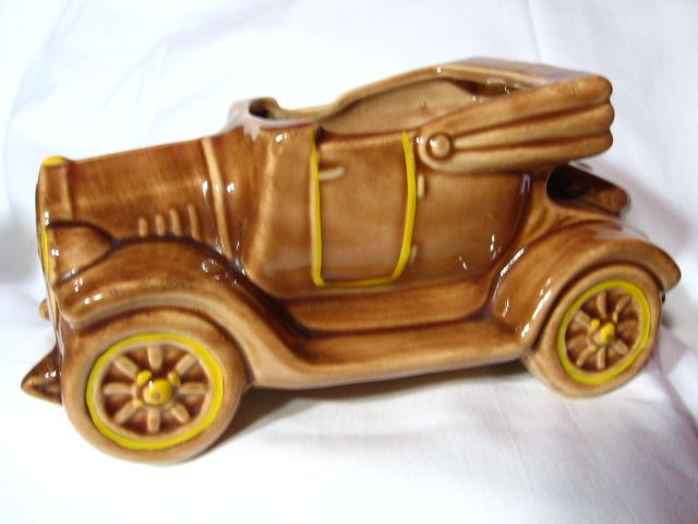 Vintage McCoy Pottery Old Jalopy Car Planter
