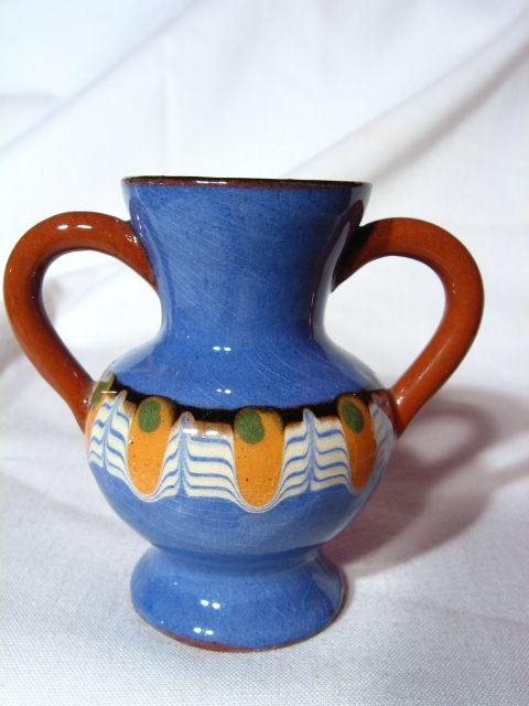 Vintage Troyan Pottery Miniature Vase