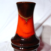 Retro Scheurich West German Fabiola Glaze Vase