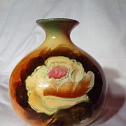 Vintage Falcon Ware Tubeline Decorated Bulbous Vase