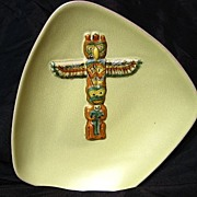 B.C. Ceramics By Herta West Coast Indian Design Series Totem Pole Bowl