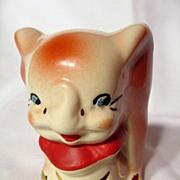 Walt Disney American Bisque Leeds Pottery Dumbo Sugar Bowl