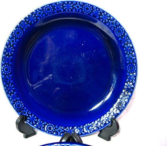 Kilrush Pottery Celtic Plates Cobalt Blue From