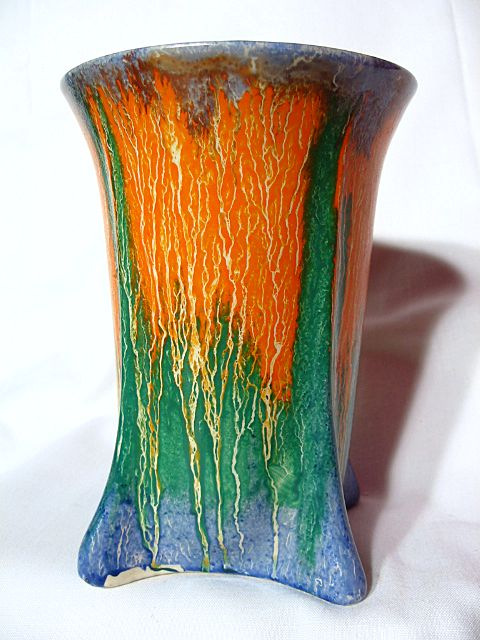Vintage Wade Heath Orcadia Art Deco Buttressed Drip Ware Vase