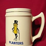 Vintage 1960 Mr. Peanut Planters Peanut Ceramic Stein