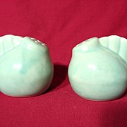 Louisville Stoneware Pastel Green Chicken Salt & Pepper Shakers