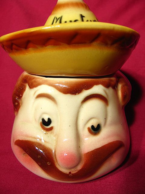 American Bisque Mustard Condiment Jar
