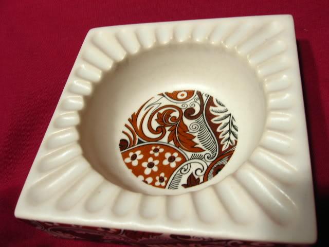 Vintage 1950's Hyalyn Mid-Century Modern Porcelain Ashtray