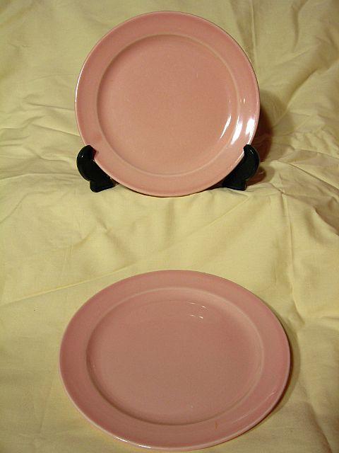 Luray Pastels Sharon Pink Dessert Plates