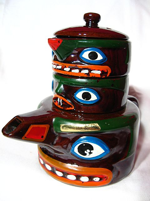 Souvenir Totem Pole Teapot Creamer Amp Sugar Mij