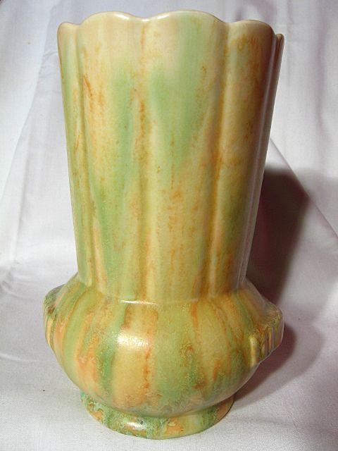 Crown Devon Blended Glaze Pleated Vase