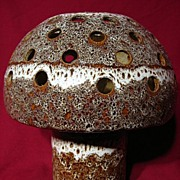 West German Fat Lava Otto Keramik Mushroom Lamp