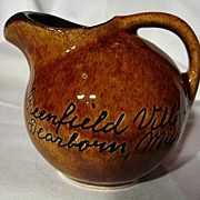 Vintage 1950's Canuck Pottery Mini Souvenir Ball Jug