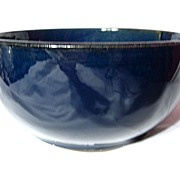 Early Medalta Slab Sided Dark Blue Bowl