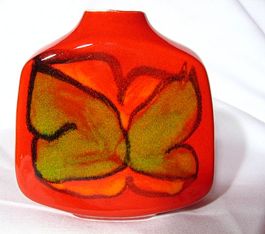 Retro Poole Pottery Delphis Slab Vase