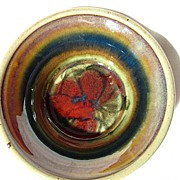 Colorful Queenston Pottery Stoneware Bowl