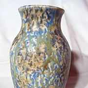 Bretby Pottery Mottled Green And Blue Vase