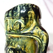 Native American Studio Pottery West Coast Eagle Totem Stein