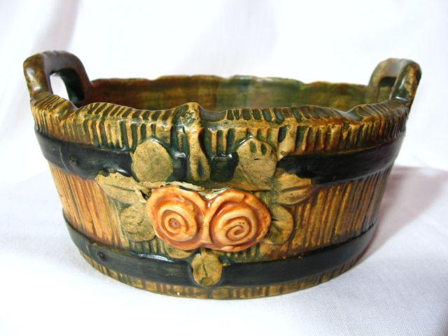Vintage Weller Pottery Woodrose Bowl