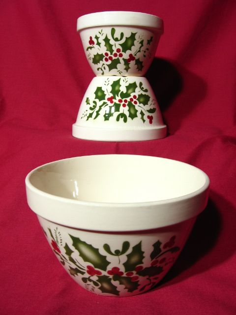 TG Green Child's Mixing Bowl Set ~ Christmas Holly Berry