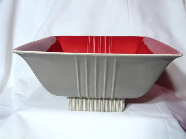 Vintage Roselane Pottery Footed Bowl