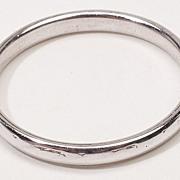 Vintage 18 Karat White Gold Wedding Band Ring Jewelry 9.25
