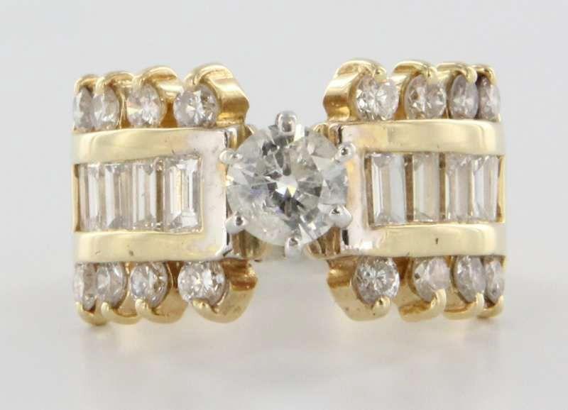Vintage 14 Karat Gold Diamond Engagement Wedding Ring Estate Bridal Jewelry Fine