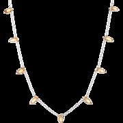 Briolette Citrine Fringe Necklace Estate 14 Karat White Gold Vintage Fine Jewelry