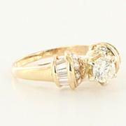 Vintage 14 Karat Yellow Gold Diamond Engagement Ring Estate Fine Jewelry Bridal 7