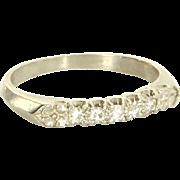 Vintage Art Deco 900 Platinum Diamond Wedding Band Ring Fine Jewelry Sz 5