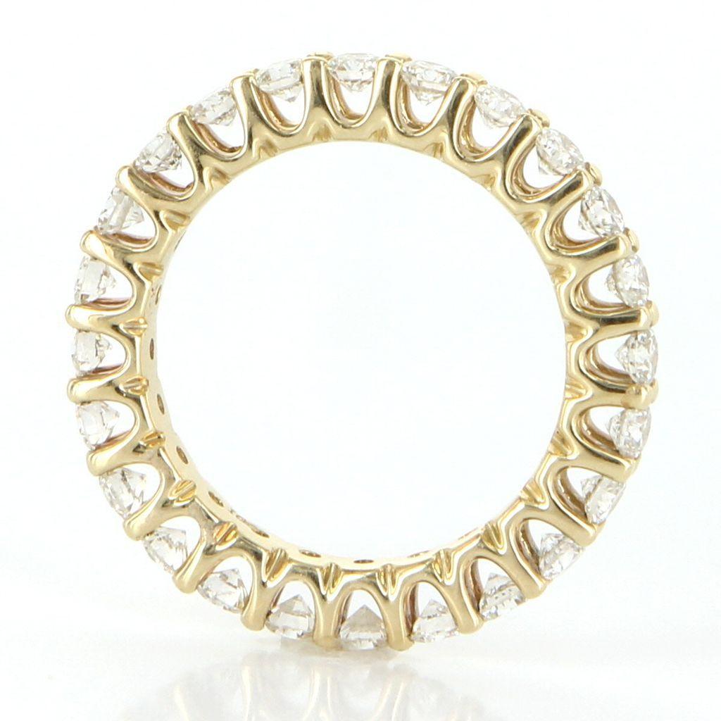Estate 14 karat yellow gold diamond eternity ring fine for 14 karats fine jewelry