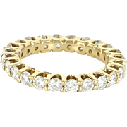 1.20ct Vintage Diamond Eternity Ring 14k Yellow Gold Estate Fine Jewelry Sz 7