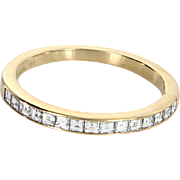 Tiffany & Co Emerald Cut Diamond Band Ring Estate 18 Karat Yellow Gold Jewelry