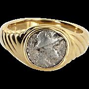 Vintage Bulgari Ancient Coin Ring 18 Karat Yellow Gold Fine Designer Jewelry