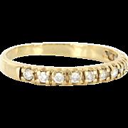 Vintage 14 Karat yellow Gold Diamond Wedding Half Stack Band Ring Estate Jewelry